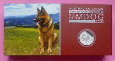 2018-P AUSTRALIA SERIE II cane Lunare Argento PROOF 3 MONETE COA e Box