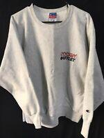 Vintage CHAMPION Reverse Weave Crewneck Sweatshirt Grey HOCKEY Outlet Size XL