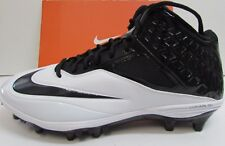 Nike Size 13 Football Cleats White Black New Mens Shoes