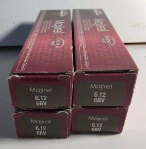 4 X LOREAL Professional Majirel Majirouge Hair Color Level # 6.12 / 6BV Brown