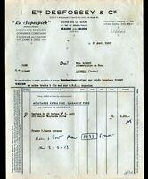 """BEAUNE (21) USINE CONSERVES / MOUTARDE de DIJON """"LA SUPERPICK / DESFOSSEY"""" 1953"""