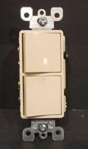 Leviton 15A-120V-277VAC AC Only Wall Rocker Light Switches Spec Grade New Almond