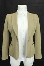 Wallis eleganter Damen Blazer Jacke mit Wollanteil, Beige Gr. 40 (12)