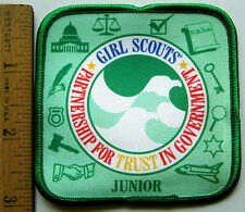 Girl Scout JUNIOR - PARTNERSHIP FOR TRUST IN GOVERNMENT PATCH Learning Civics