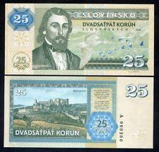 Slovakia, 25 Korun, 2018 Private Issue, Essay > commemorative, 25th anniversary