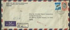 Thailand Stamps:1967 Registered Cover to New Orleans, Louisiana Usa