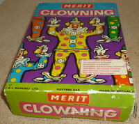 1960 MERIT CLOWNING GAME Complete with Dice - Vintage Collectable
