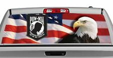 Truck Rear Window Decal Graphic [US Flag 1 with POW MIA] 20x65in DC28708