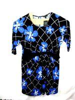 LANE BRYANT Flower Print Shift Career Dress Belt sewn in Key hole PLUS 22-24 NWT