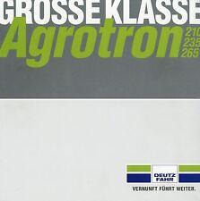 Prospekt Deutz Fahr Agrotron Traktoren 2 03 2003 Trecker Schlepper tractor