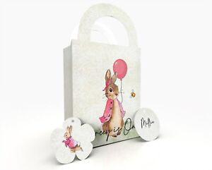 Flopsy Bunny Personalised Gift Bag, Party Bag, Party Box, Treat Bag/Box