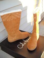New in Box COLE HAAN Air Leighton Waterproof Shearling Boots Tan 7.5 Medium $200