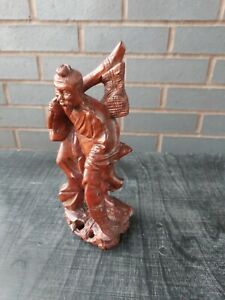 Antique Chinese Carved Boxwood Figure of an Immortal
