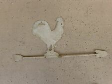 VERY OLD ANTIQUE AMERICAN IRON ROOSTER WEATHERVANE