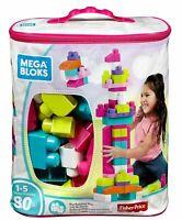 Mega Bloks First Builders Big Building Bag 80 Pieces - Pink (DCH62)