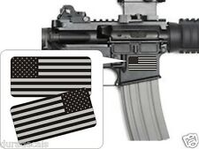 Pair American Flag Black Ops Stickers Decals | Stealth AR-15 | LH & RH Flags