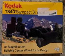 Kodak T820 Compact Binoculars - Manual 8 x 40 Porro Prism 15 mm Eye Relief - New