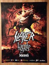 Music Poster Promo Slayer Lamb of God + Behemoth
