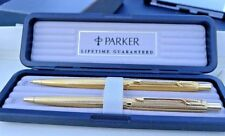 Parker Grain D'orge Gold Ballpoint Pen & 0.5mm Pencil New In Box Made In Usa