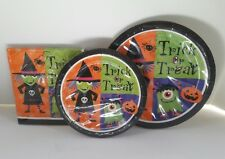 Halloween Witches Cute Monsters Napkins Plates Party Supplies Pack for 12