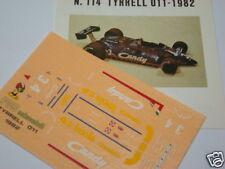 TYRRELL 011 GP IMOLA 1982 ALBORETO-HENTON DECALS 1/43