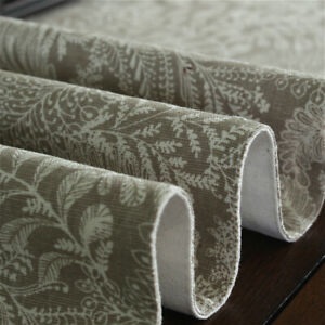 Classic Floral Table Runner Cotton Linen Tablecloth Countryside Room Home Decor