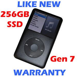 Apple IPOD CLASSIC - 7th Gen - Black - 256GB SSD - Massive Upgraded Storage!