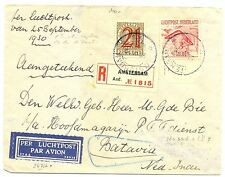 NED INDIE DUTCH INDIES 1930-09-21  REG. CV # LP7 -ETS NR 1 ON SHEET MAR.-FINE !