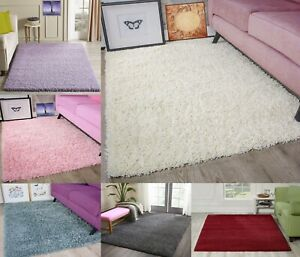 Fluffy Rugs Shaggy Anti-Slip Rug Carpet Mat Living Room Floor Bedroom Area Rugs