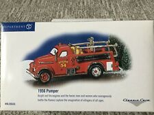 Dept 56® Classic Cars 1956 Pumper Fire Engine - Brand New Never Out Of Box