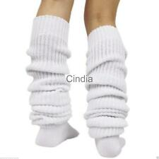 Women Girls Bubble Loose Legs Warmer Slouch Long Socks Japanese Style White