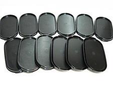 New Tupperware Modular Mates MM Oval Black Seal Lid Cover Set (12 pcs)