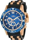 Invicta 23713 Men's Pro Diver Chronograph Rose Gold Tone Blue Dial Watch