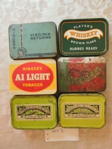 Vintage Tobacco tins job lot A1 Golden Virginia Sun Valley Old Holborn Players.