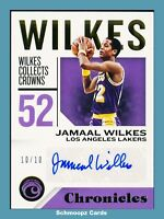 2018-19 Panini Chronicles Signatures Gold /10 Jamaal Wilkes #CS-JW Auto HOF