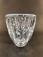 """Lead Crystal Holly Leaves & Berries 4.5"""" Vase"""