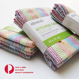 4x 12x  High Absorbent 100% Cotton Kitchen cloth  Dish Towels Tea Towels Wipes