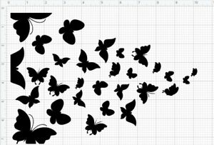 """10 x 7"""" 180microns butterflies re-usable stencil spray paint various flying"""