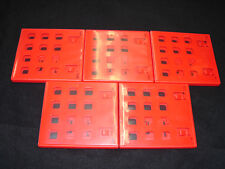 5 Original RED Nintendo 3DS Replacement Game Case with LOGOS-  **AUTHENTIC**