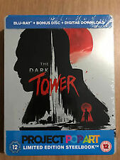 The Dark Tower Blu ray Steelbook- 2 Disc Set ( Project Popart ) ( NEW )