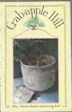 Crab Apple Hill Pattern-Flower Basket Gathering Pail & Needlecase