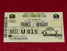 [COLLECTION SPORT FOOT] TICKET FRANCE / URUGUAY 19 NOVEMBRE 2008 Match Amical