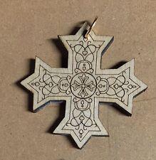 10 PCS Laser carved Wooden Coptic Cross, Orthodox, Christian Jesus, 10 pcs