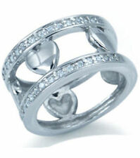 Lab-Created Cubic Zirconia Band Fine Rings