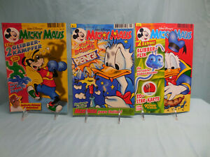 Comics, German, MICKY MAUS, lot of 3 including a Nr. 1 29/12/98, (none graded)