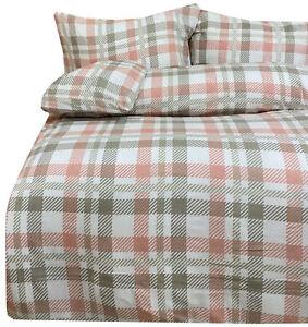 10 x 2 tlg Bettwäsche Baumwolle 140x200cm rosa grau weiß kariert Reißverschluss