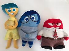 Disney Pixar INSIDE OUT Lot Set of 3 Joy Sadness Anger Plush Dolls Stuffed Toys