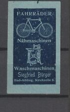 German Poster Stamp Bicycle