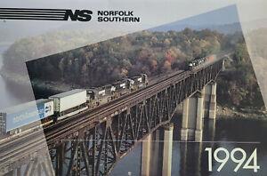 Norfolk Southern NS Vtg 1994 Hanging 12 Month Train Wall Calendar