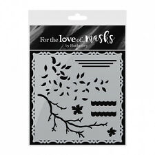 "Birds of Paradise ~ Stencil - Mask 5.5"" ~ For the Love of Masks ~ Hunkydory"